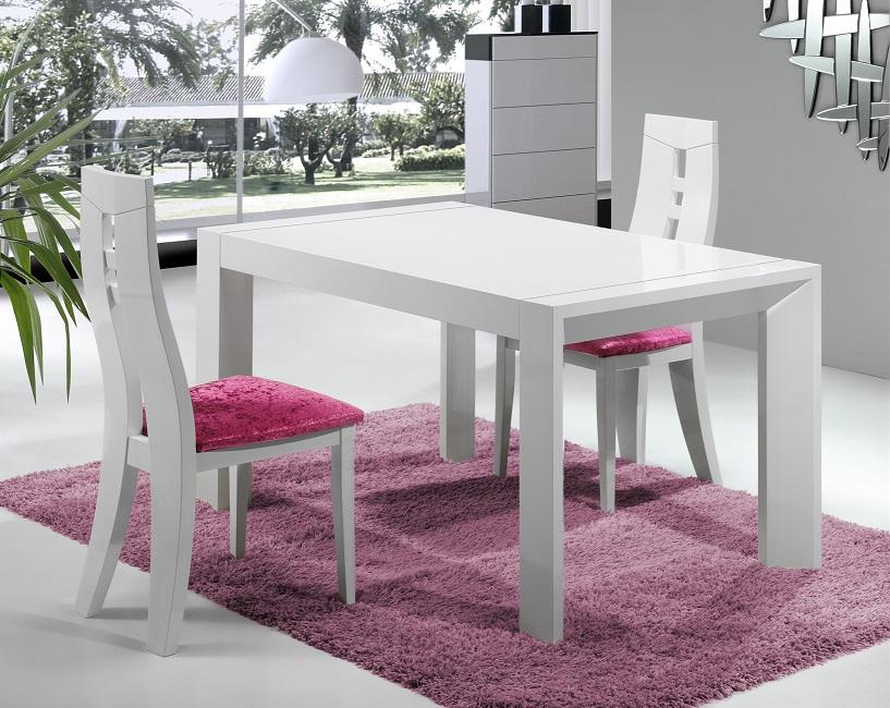 Mesas salon toledo sillas salones modernas madrid for Sillas transparentes baratas