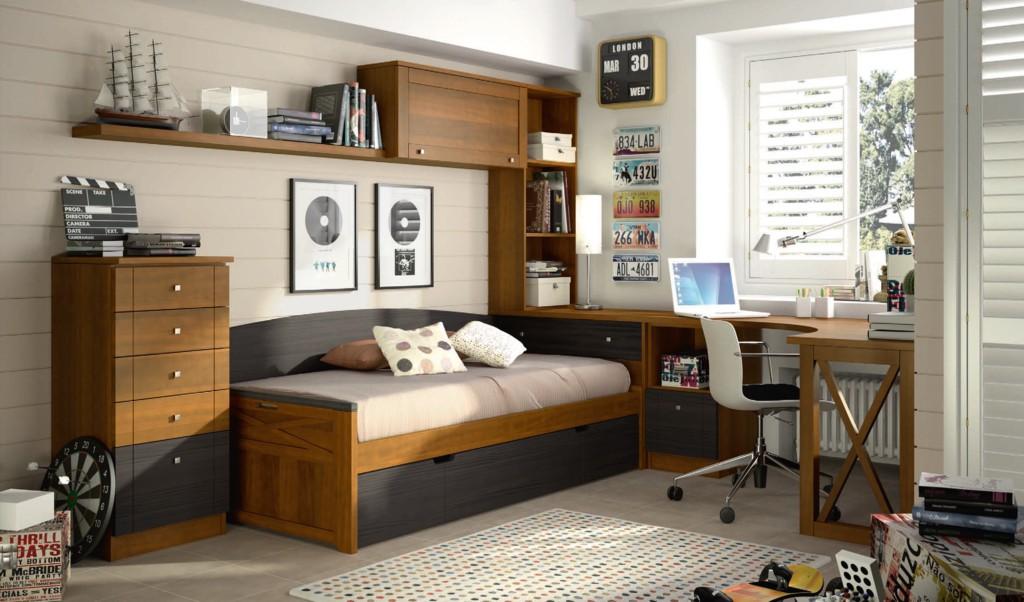 Mueble juvenil toledo dormitorios juveniles madrid for Muebles de estudio modernos
