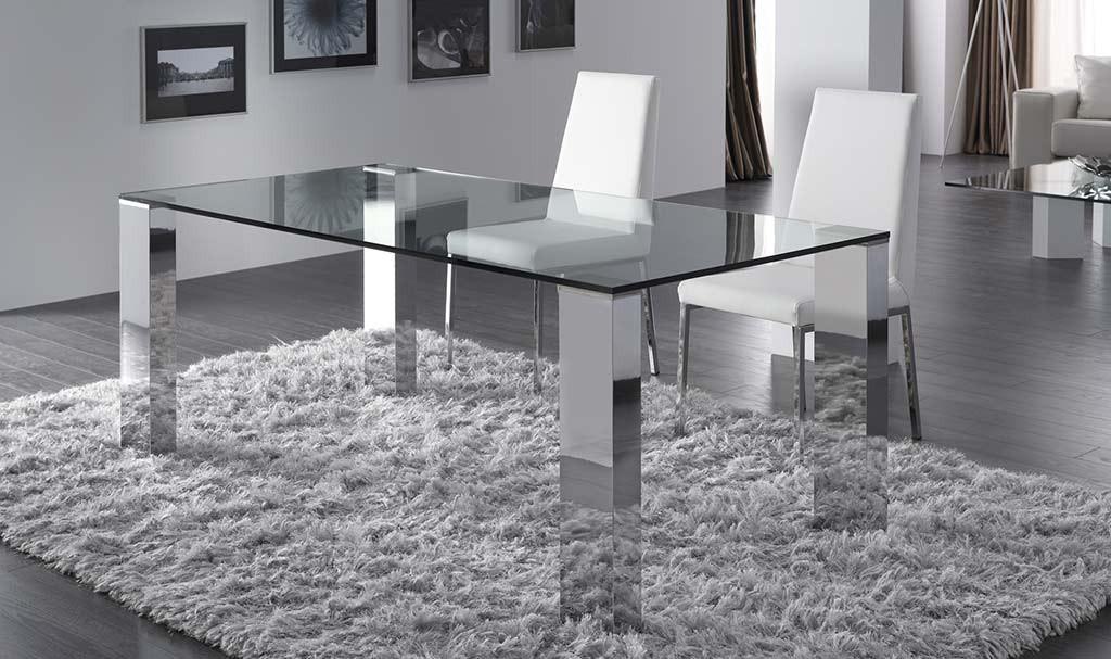 mesas de salón de cristal