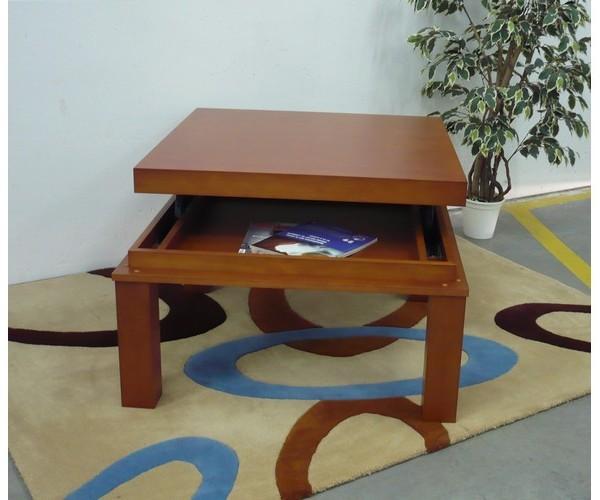 Ref 019 mesa de centro elevable cuadrada muebles arenas pinto valdemoro sese a - Mesa centro cuadrada ...