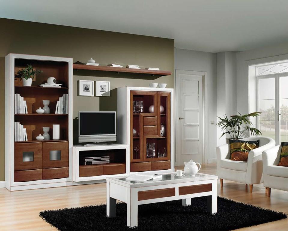 muebles de salón bicolor