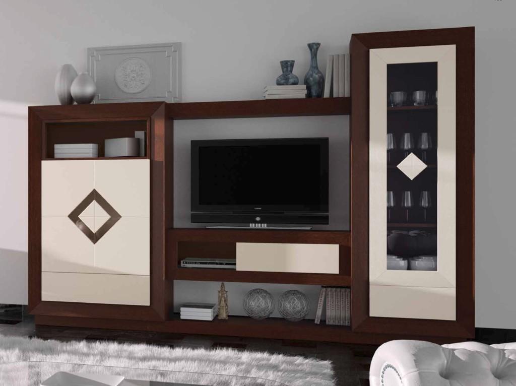 mueble de salón bicolor